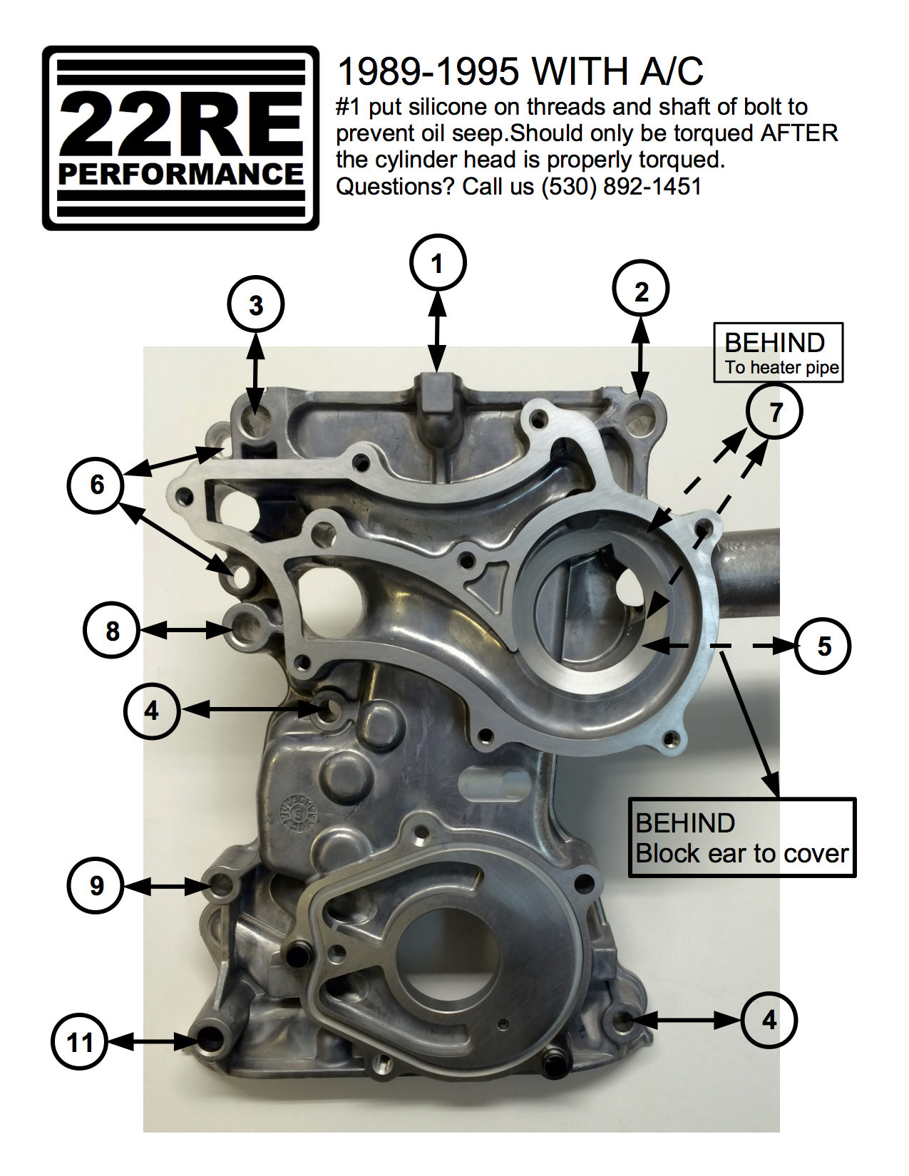 timing cover hardware kits — 22RE Performance