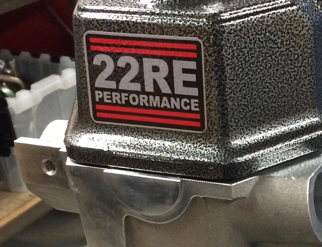 aluminum valve cover half moons (our design) — 22RE Performance