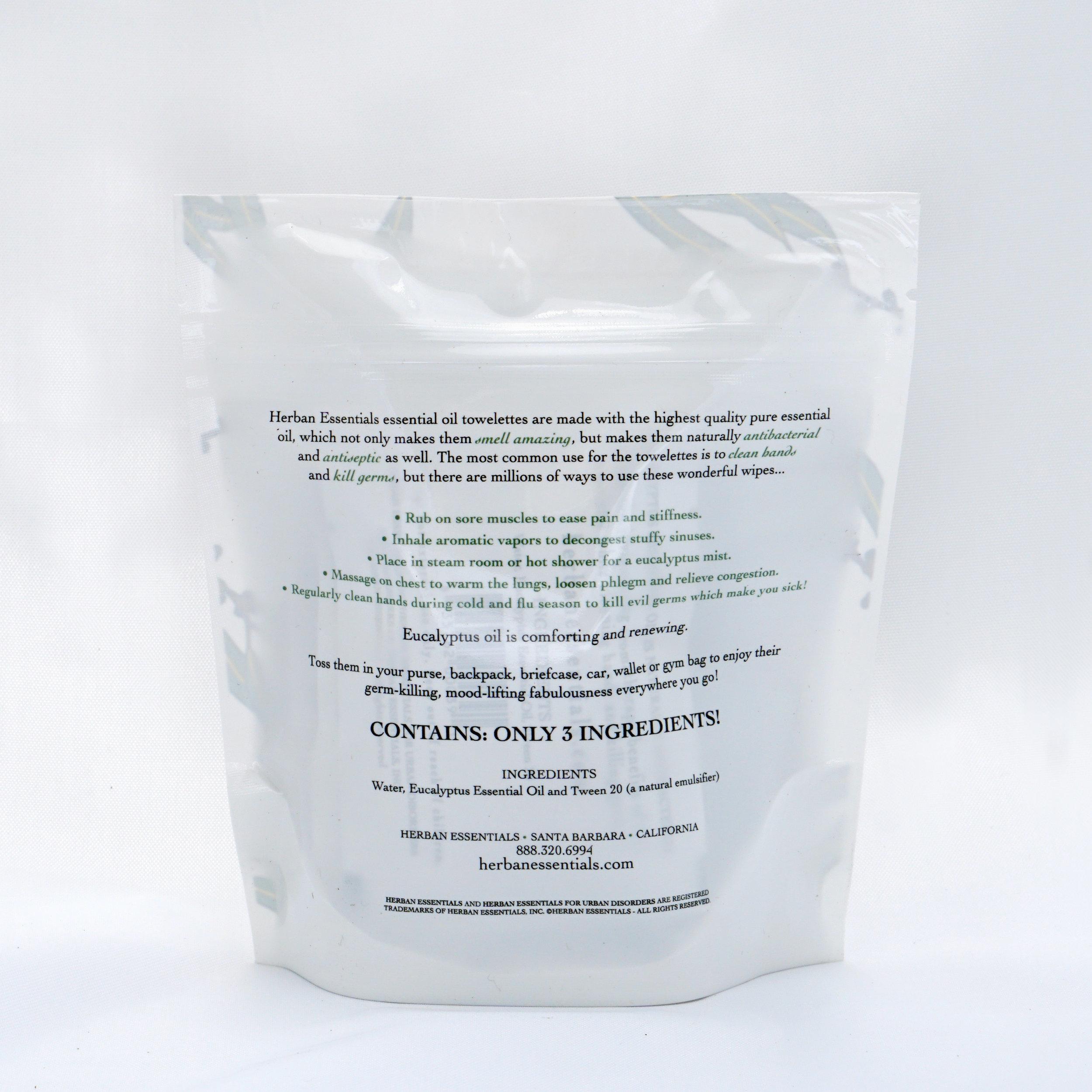 Eucalyptus Essential Oil Towelettes — Citrus On Main