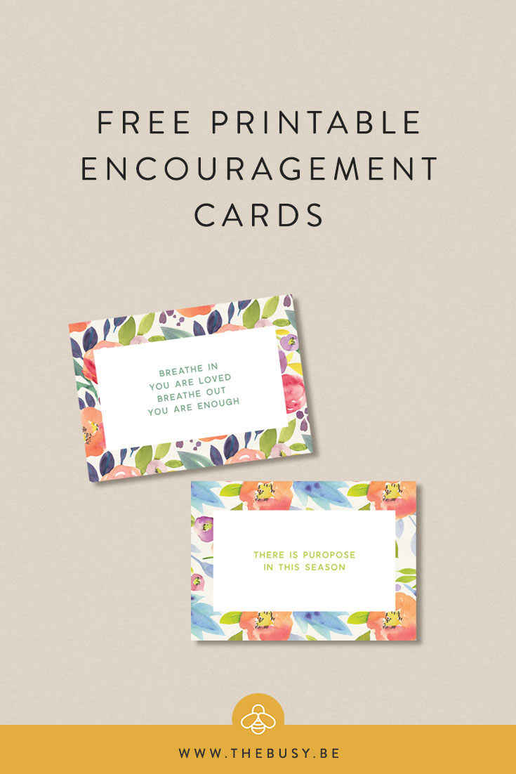 image relating to Printable Encouragement Cards identify Printable Encouragement Playing cards The Hectic Bee