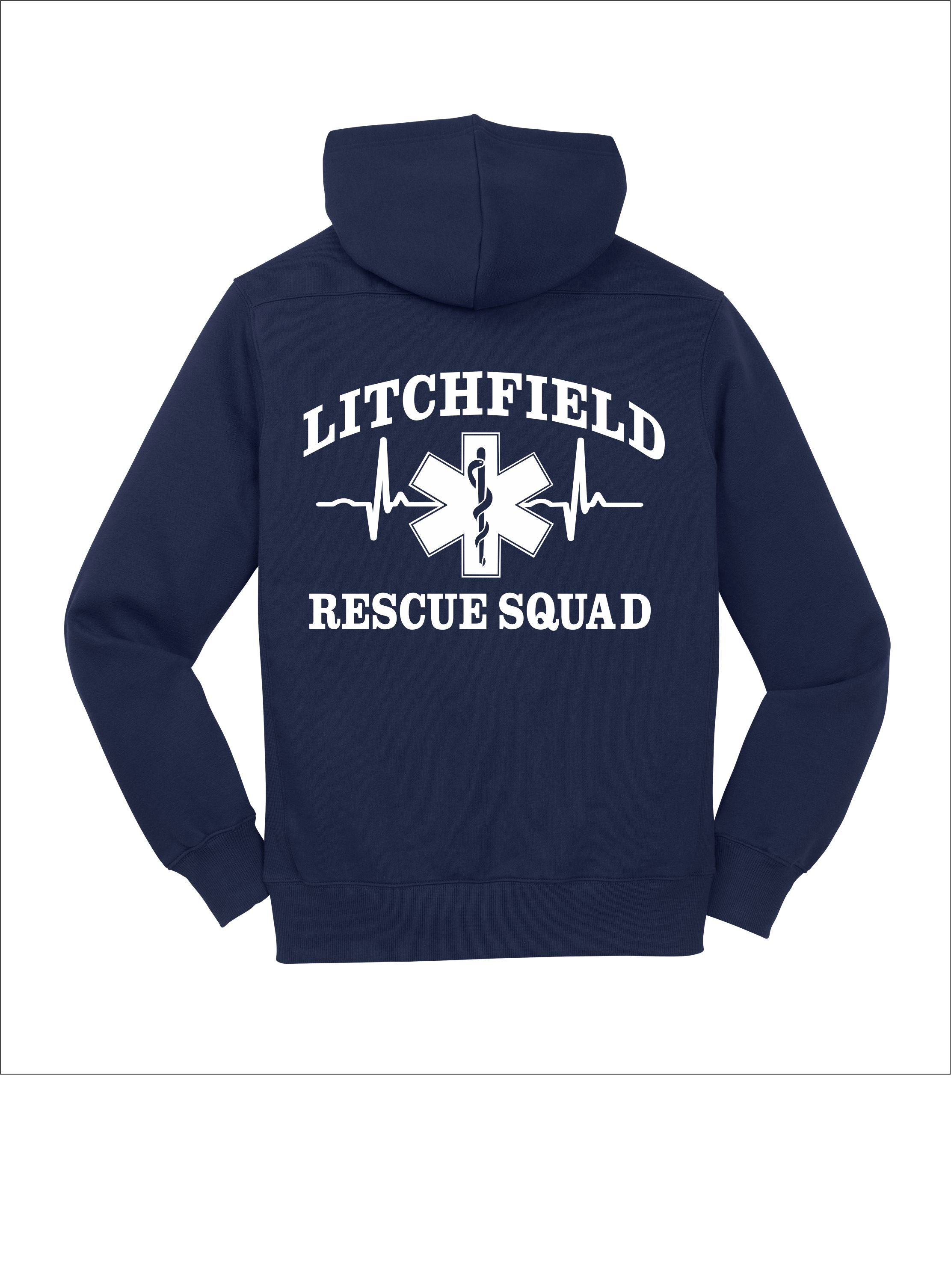 Rescue Squad Black Lace Hoodie — Pursley Embroidery & Design