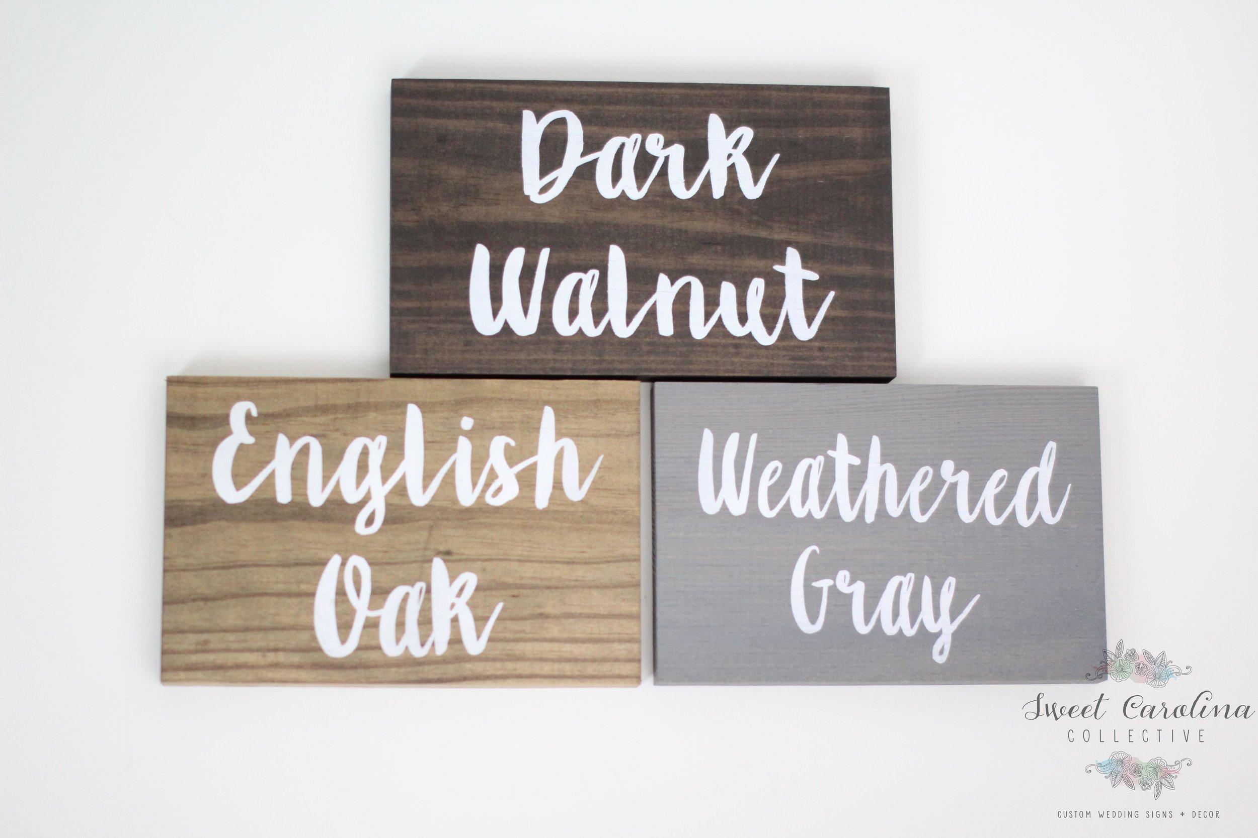 Wedding Decor Rustic Wooden Signs