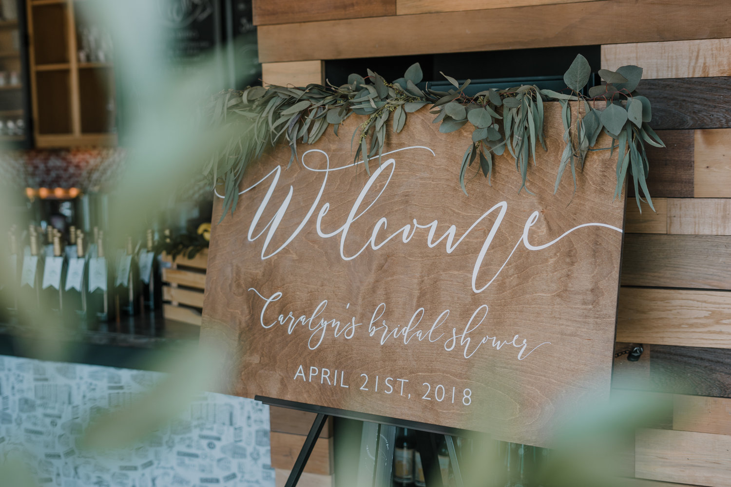 Bridal Shower Welcome Sign Rustic