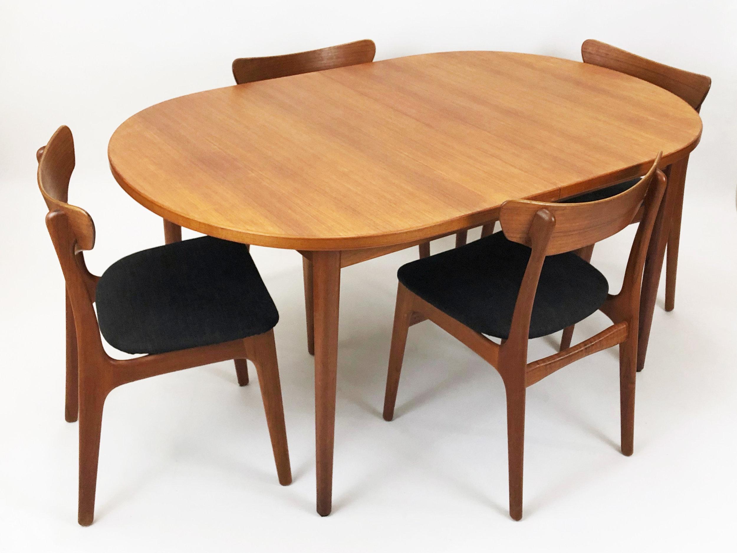 Swedish Teak Dining Table — 84 1/2
