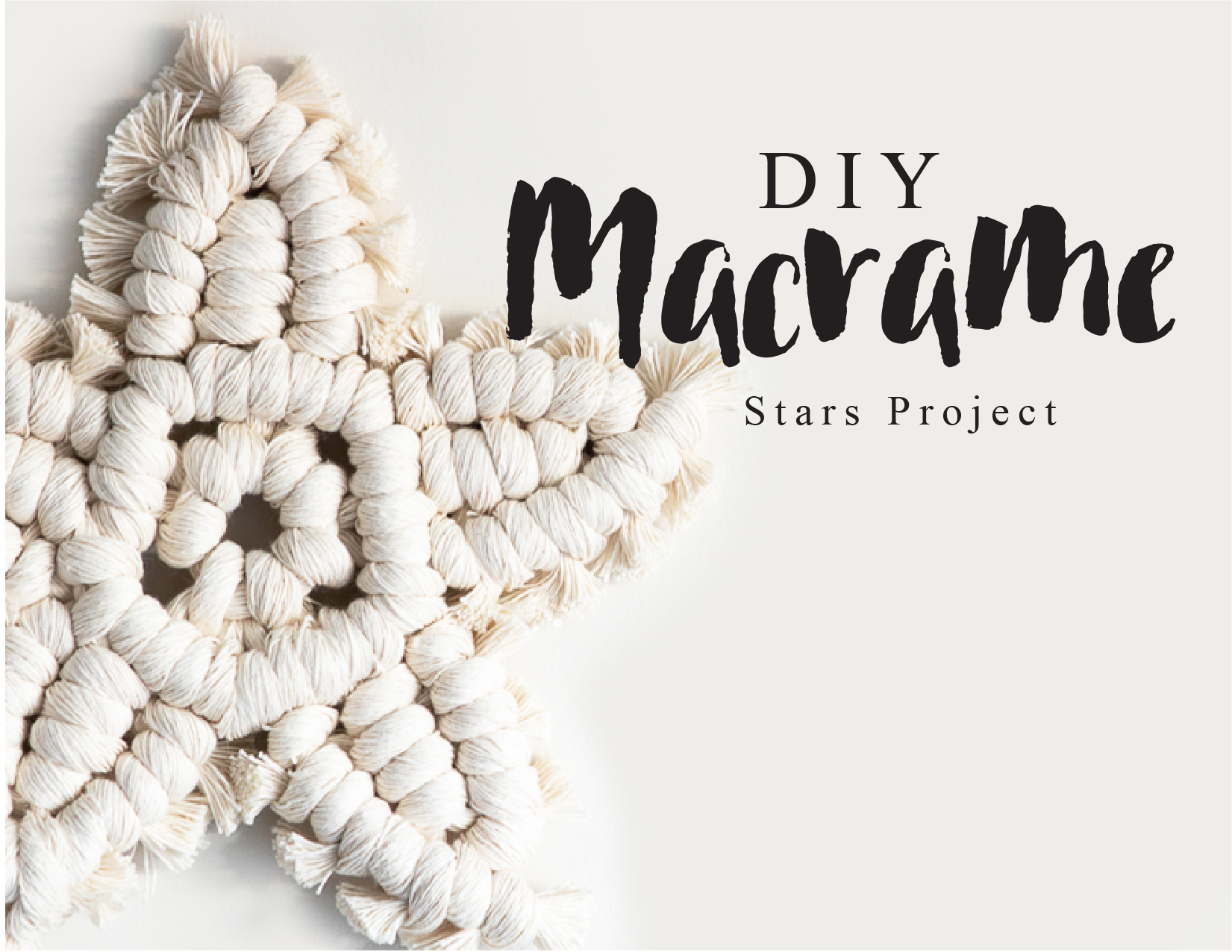 Stars Macrame Project Class Video Instructions And Pattern