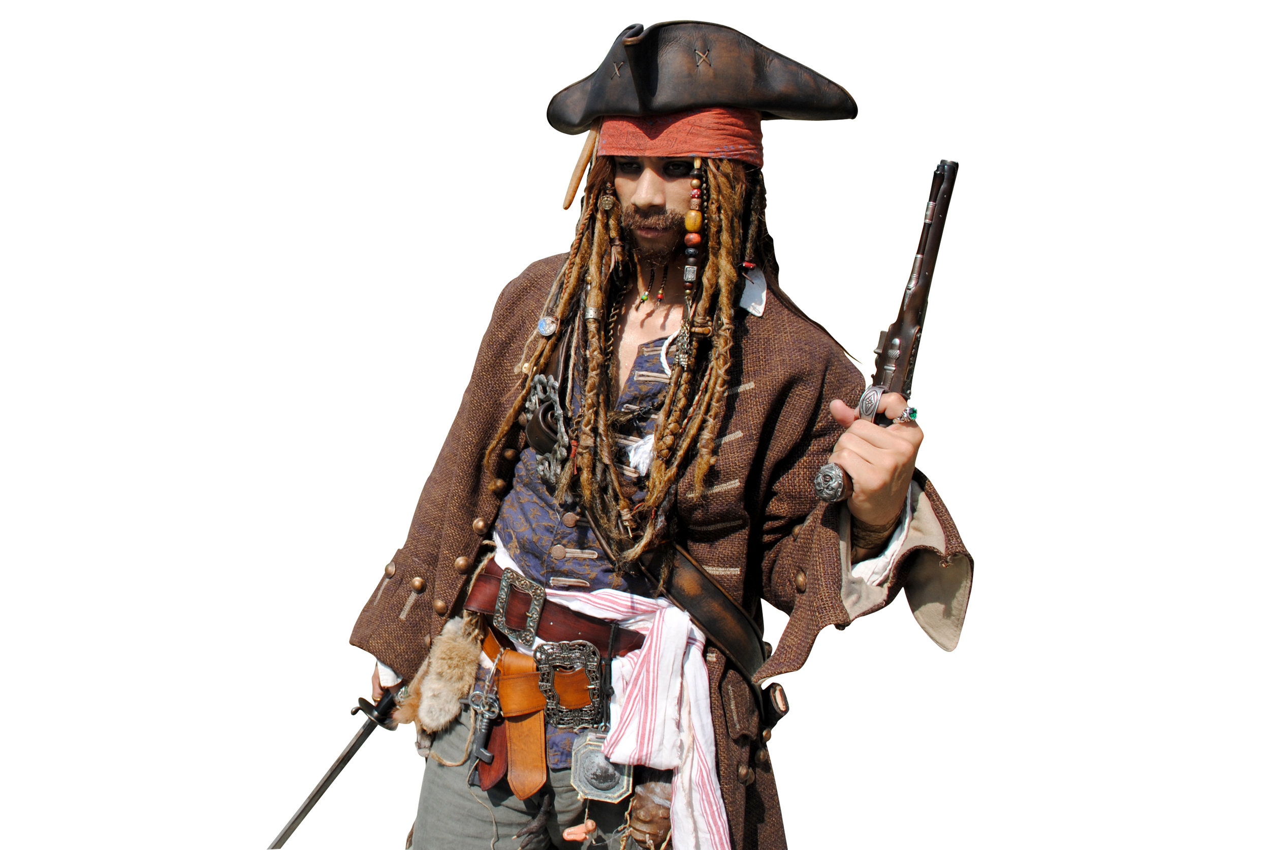 Jack Sparrow Full Costume Jack Sparrow Costumes By Anthony Zarrillo Jack Sparrow Wig Pirates Of The Caribbean Dead Men Tell No Tales