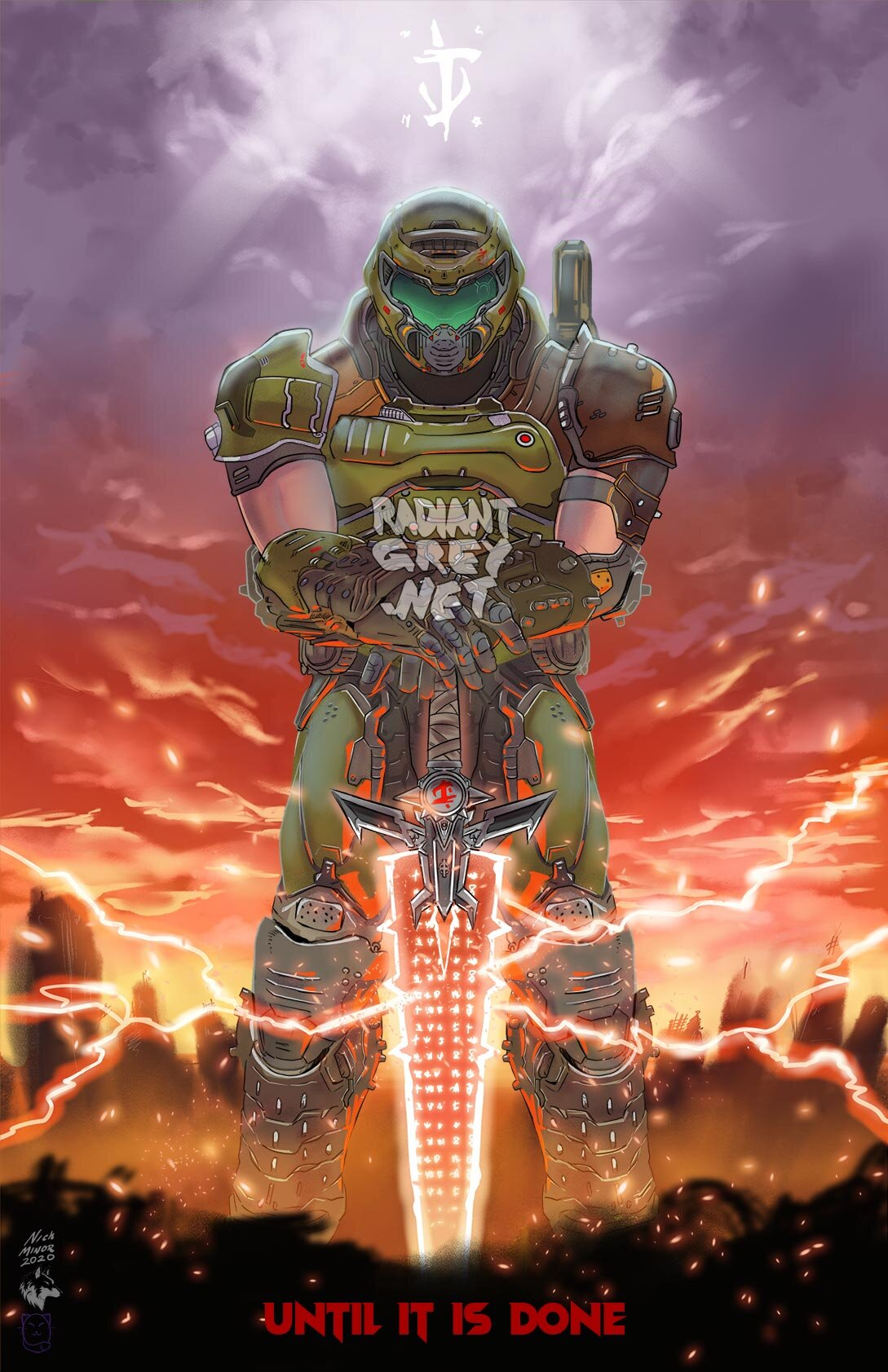 Doom Eternal Poster Print Wall Art Decor Fanart Videogames