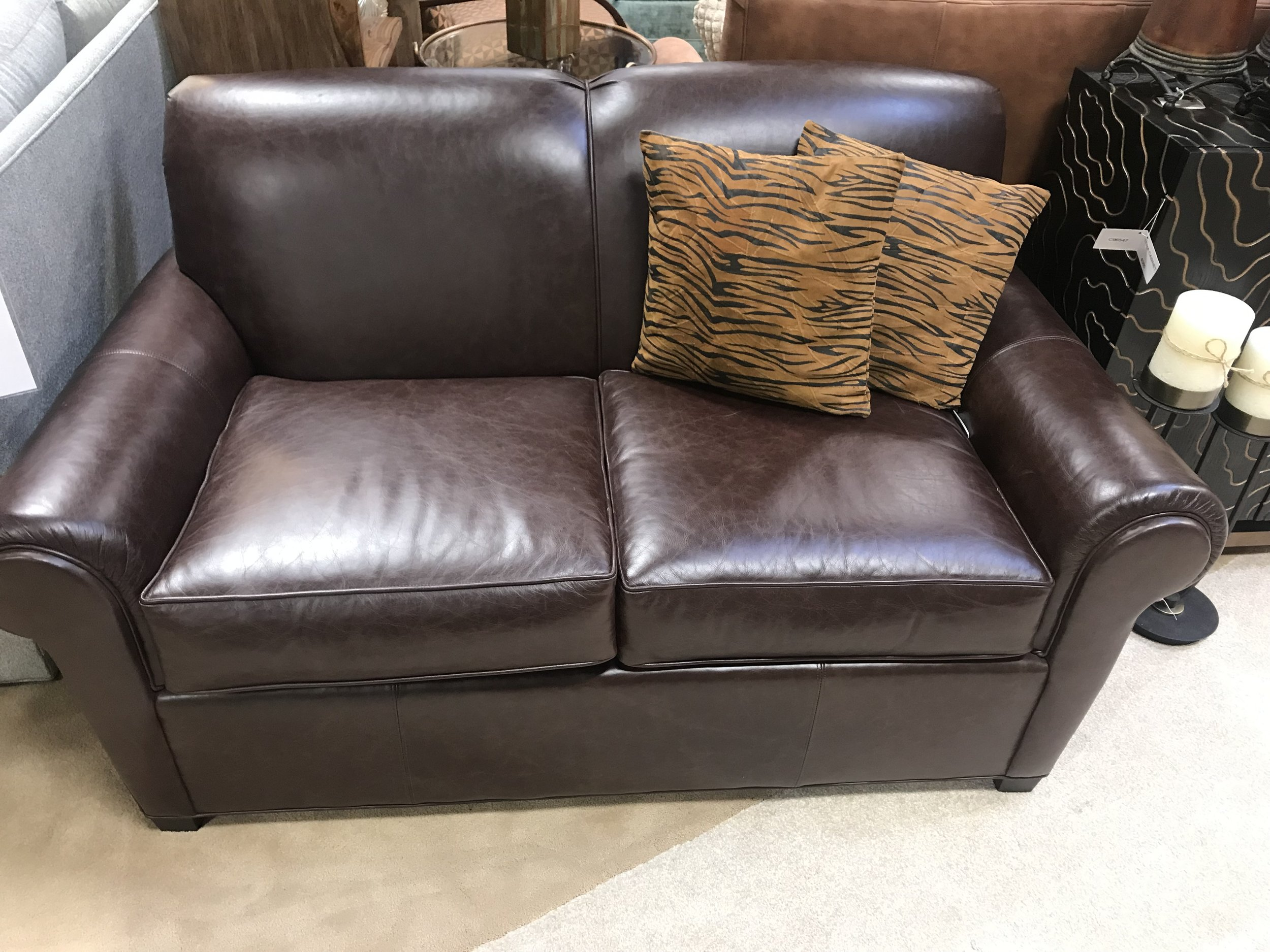 Norwalk Portland Leather Loveseat — Koeber\'s Interiors