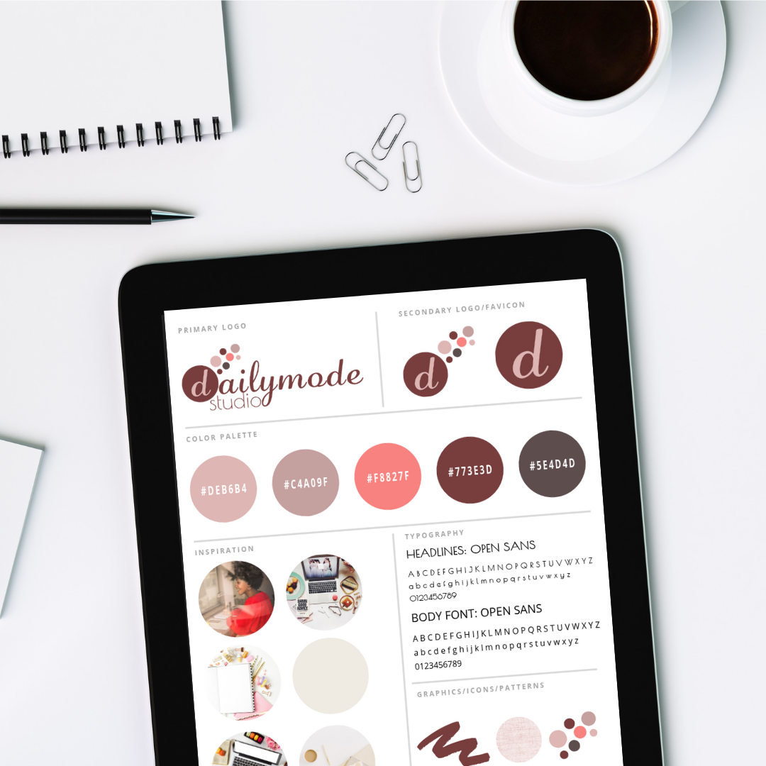 Brand Style Guide Canva Template | DailyMode Studio | Squarespace Designers  + Mailchimp Email Marketing Experts