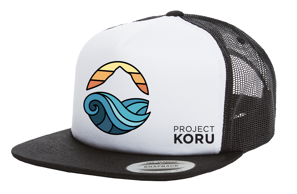 PK Mountain Wave Logo Trucker Hat — Project Koru