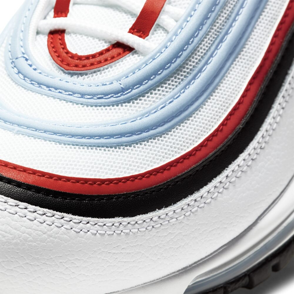 Nike Air Max 97 In White Black University Red Psychic Blue Major