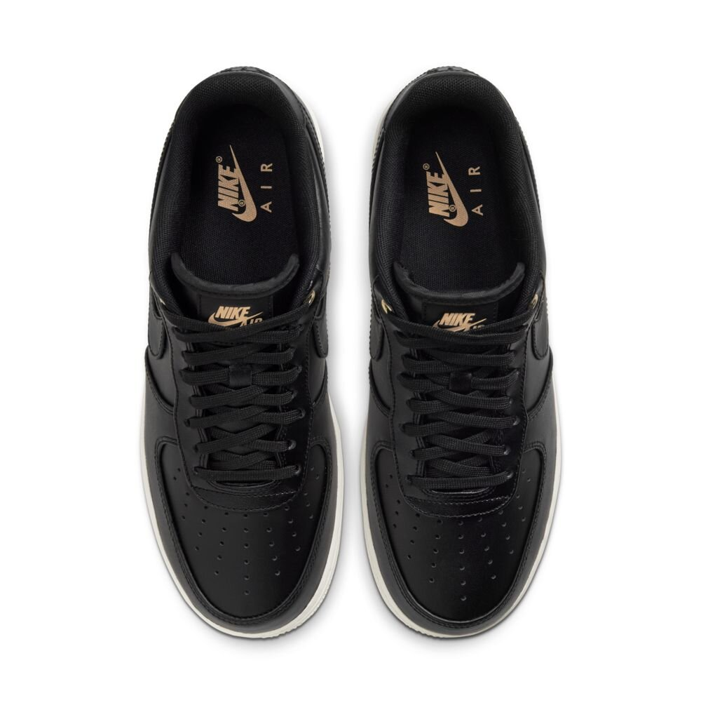 Nike Air Force 1 Premium In Black Gold Vachetta Tan Major