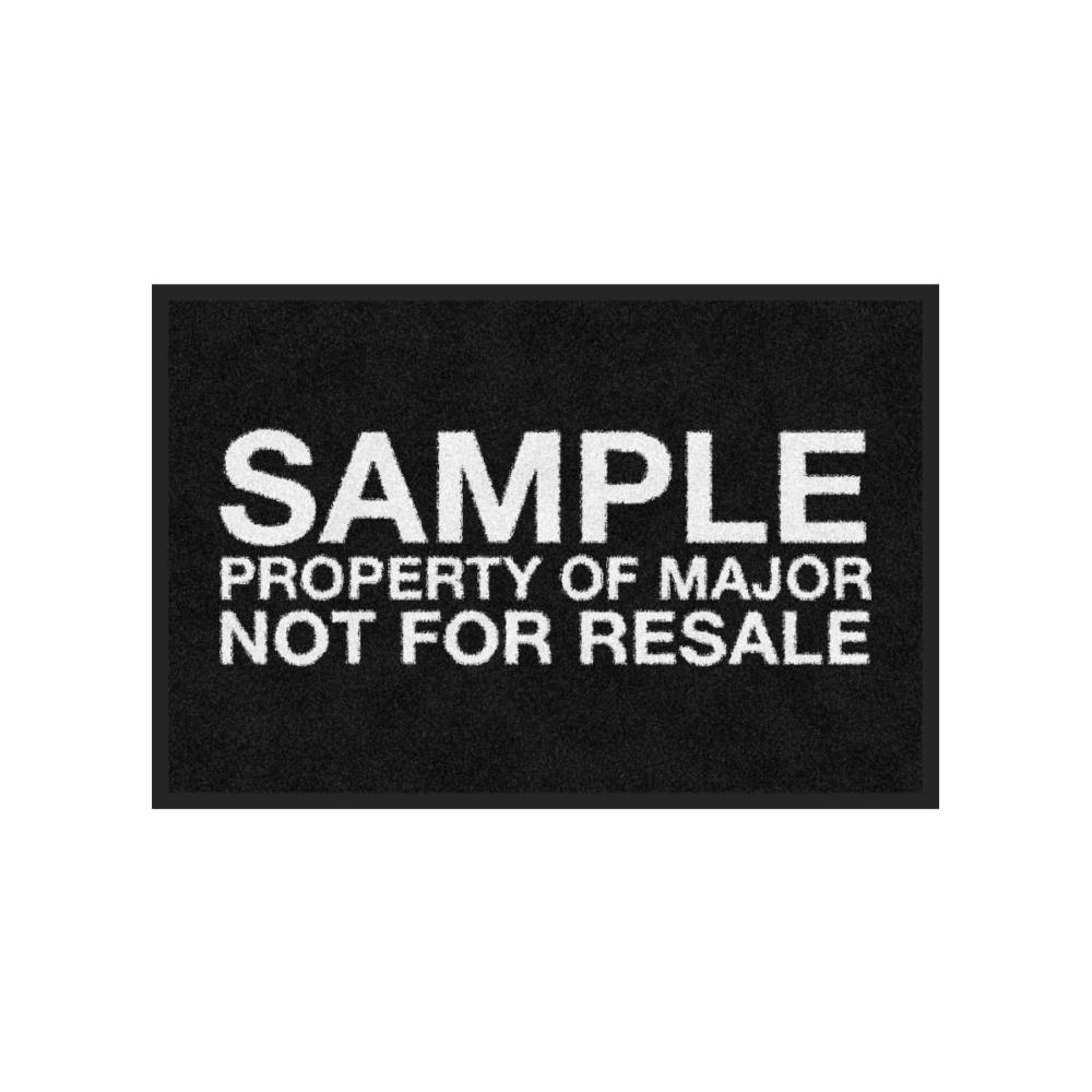Major Presents The Sample Area Rug In Black Major