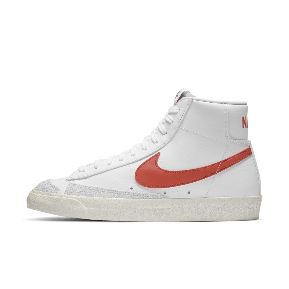 Nike Blazer Mid '77 Vintage in White/Mantra Orange — MAJOR
