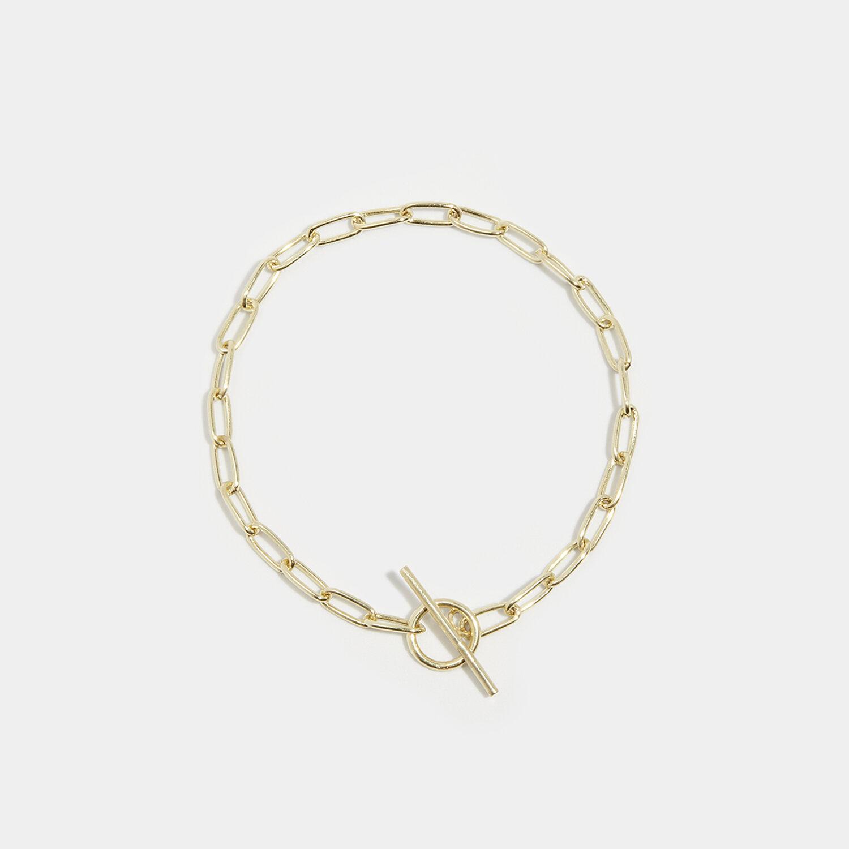 Wide linked bracelet gold — LISA MARIE HOEHNE
