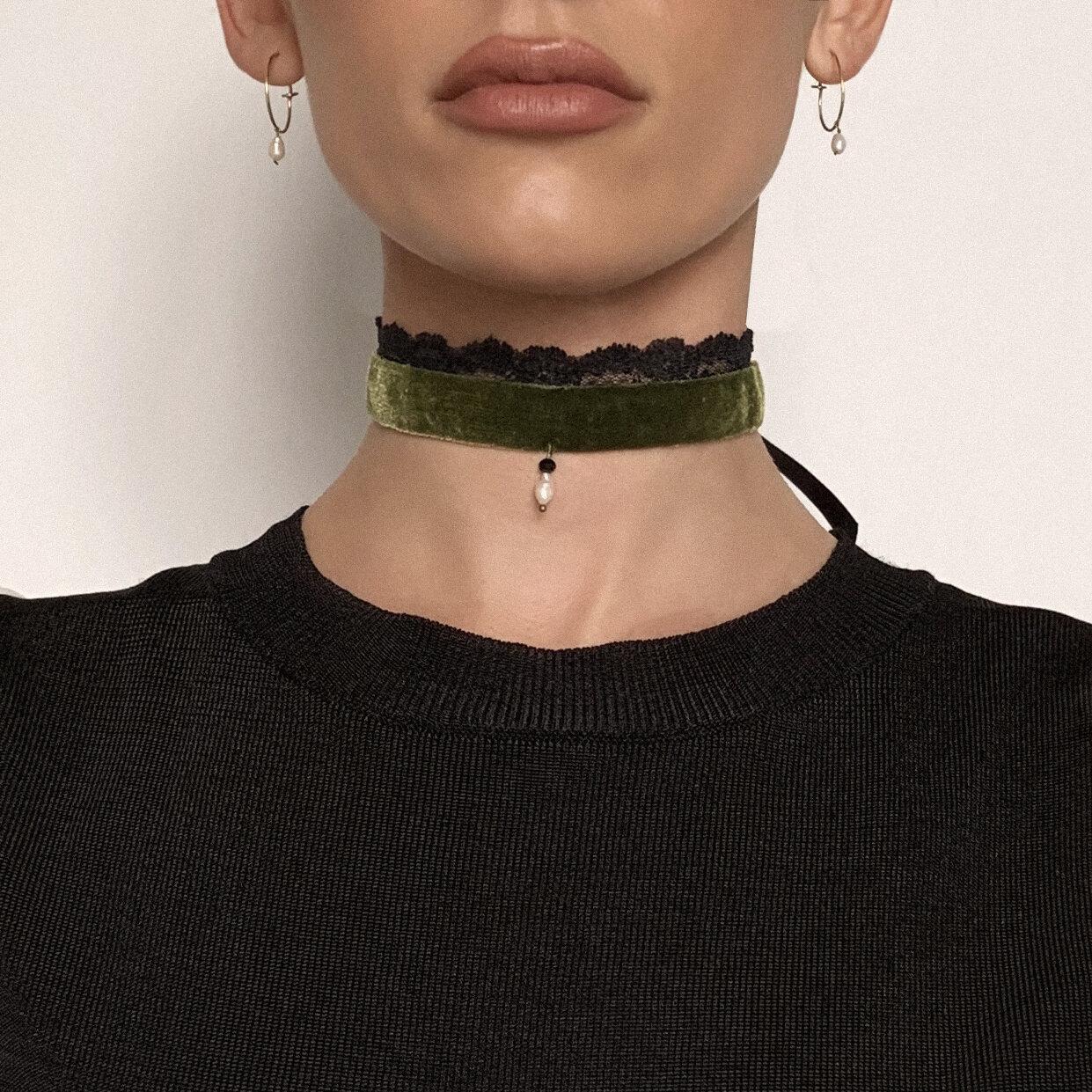 Queen Of All Everything Velvet Choker Necklace