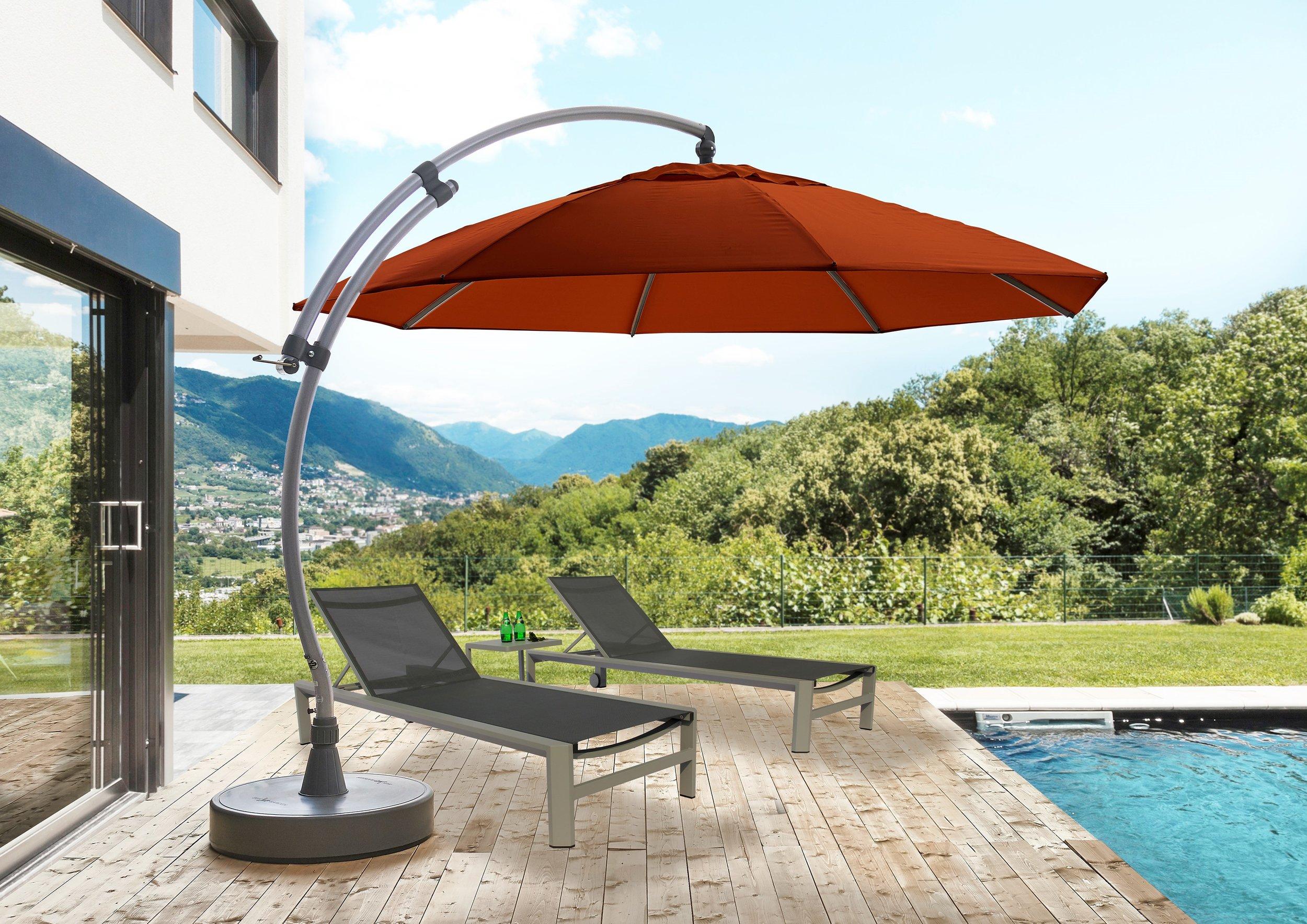 13' Curve Cantilever Patio Umbrella — SUN GARDEN USA Cantilever Umbrella