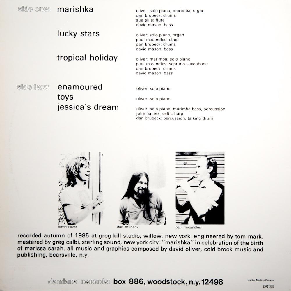David Oliver - Marishka (LP) — SÉANCE CENTRE