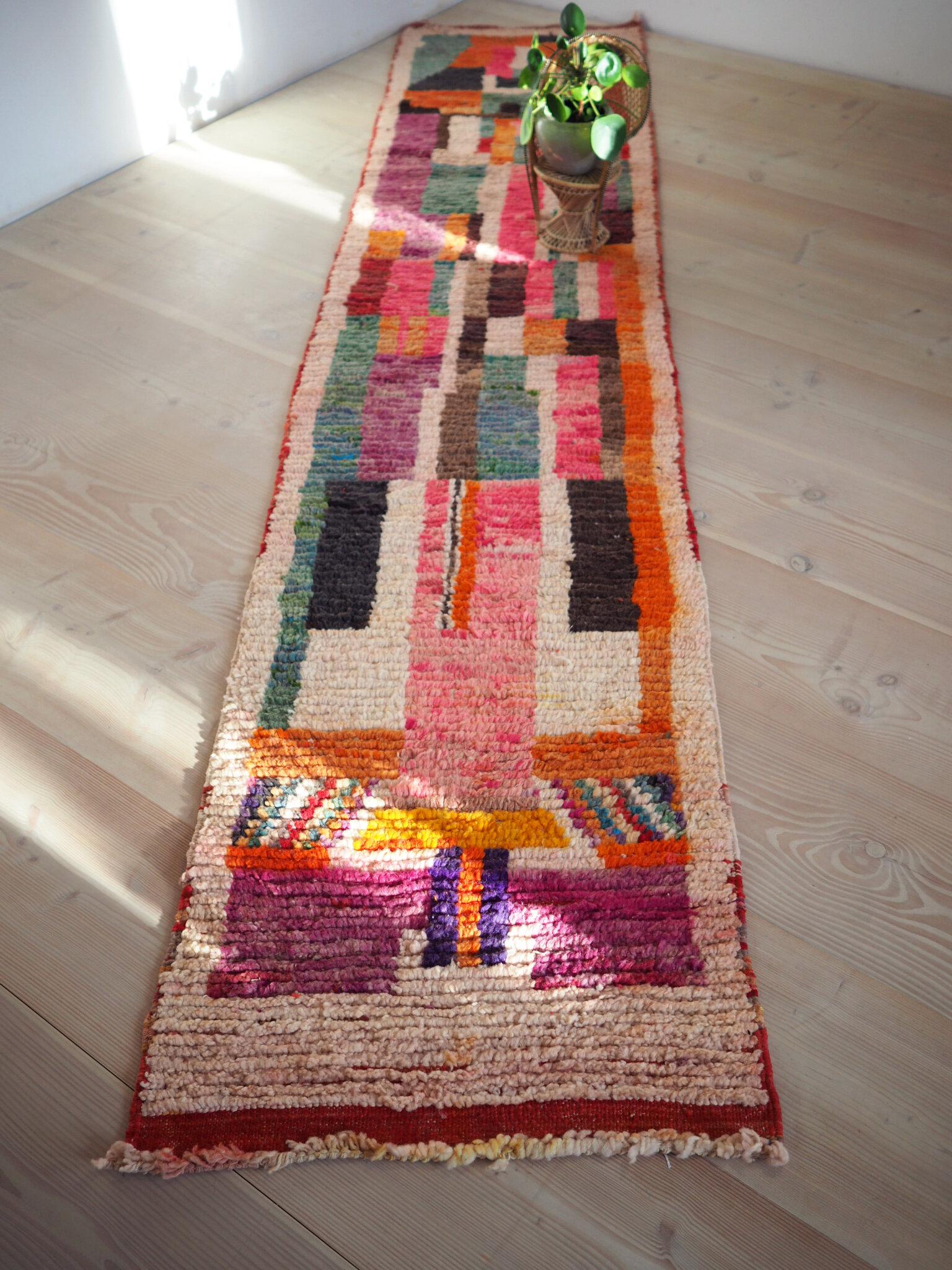 Moroccan Vintage Boujad Carpet Runner Rothko Äventyr