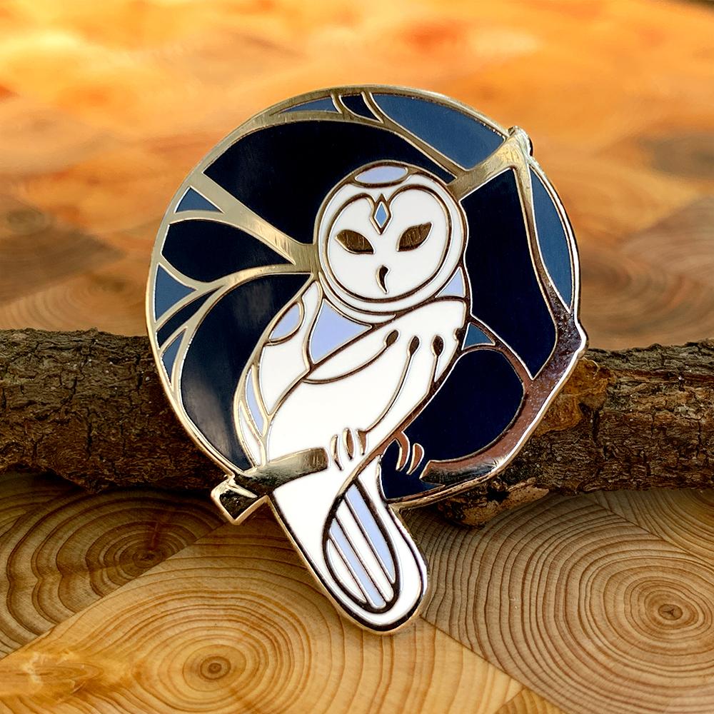 Owl - Hard Enamel Pin — Anna Jano