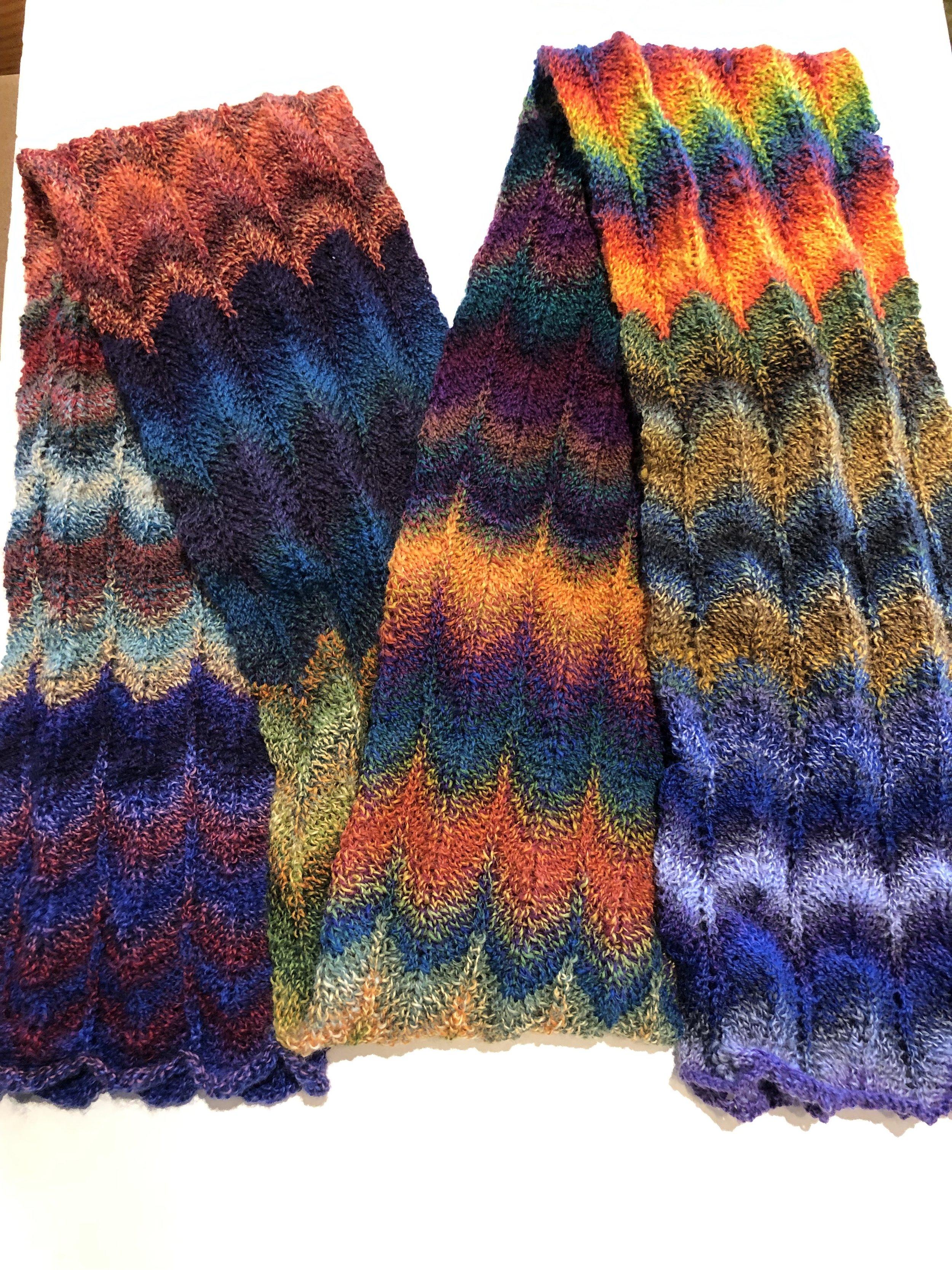 Chevron Sock Scarf Knit Kit Knit