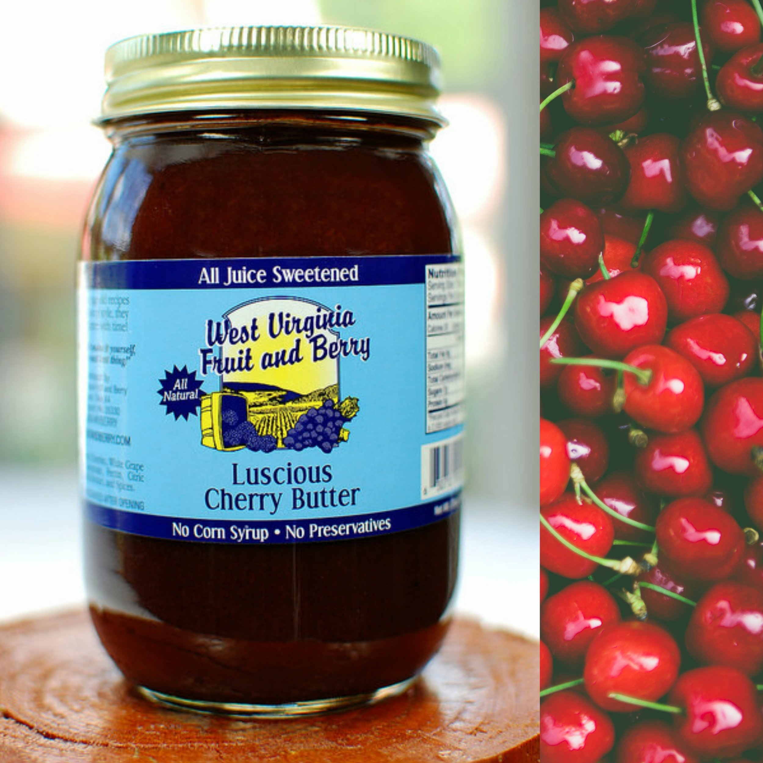 Cherry Butter (All Juice Sweetened) — West Virginia Fruit and Berry®    Preserves - Wines - Fruit Butters