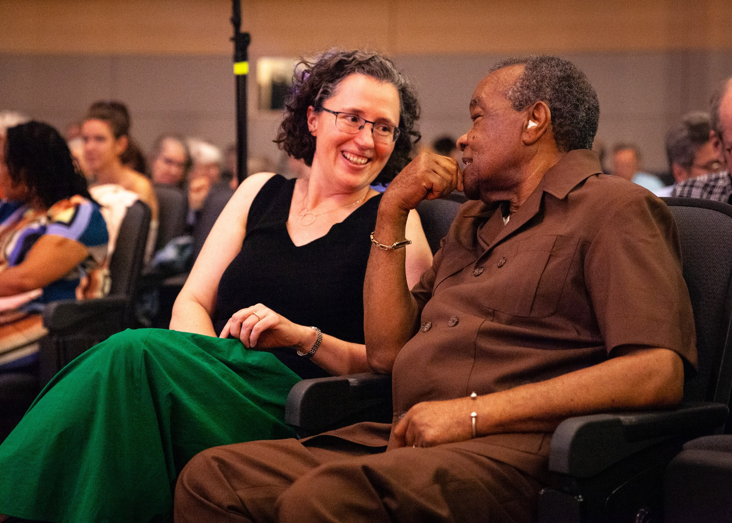 可能 with the late David Driskell in 2019.