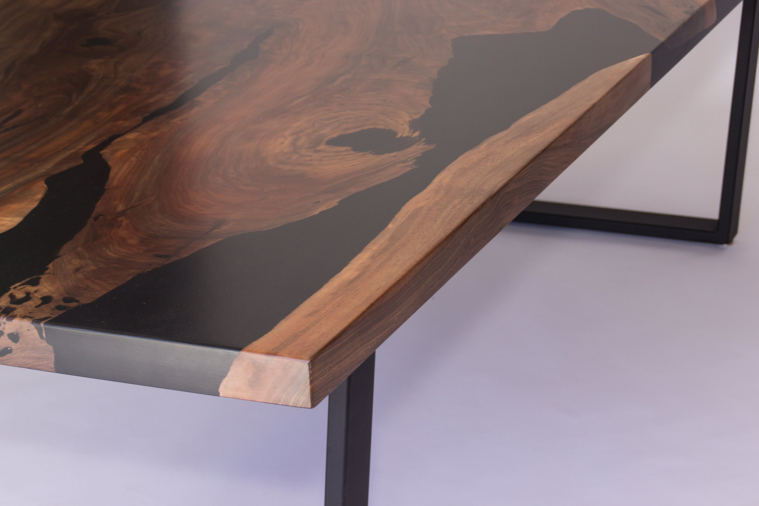 Midnight Bayou Resin Table — Blacktail Studio