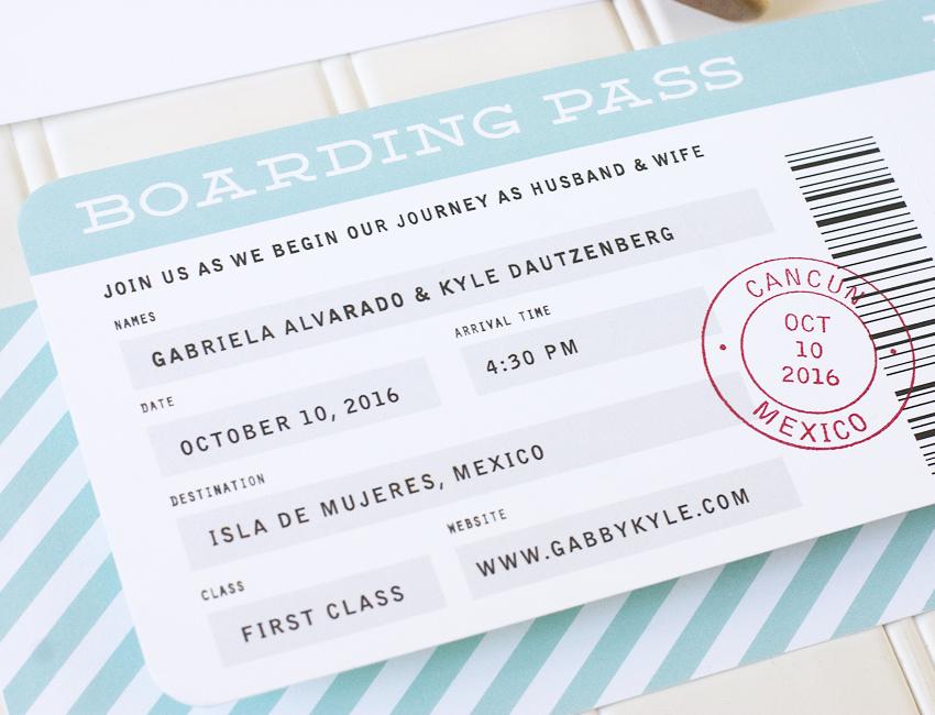 Boarding Pass Wedding Invitations.Boarding Pass Wedding Invitation Sample Paper Parcel Wedding Invitations