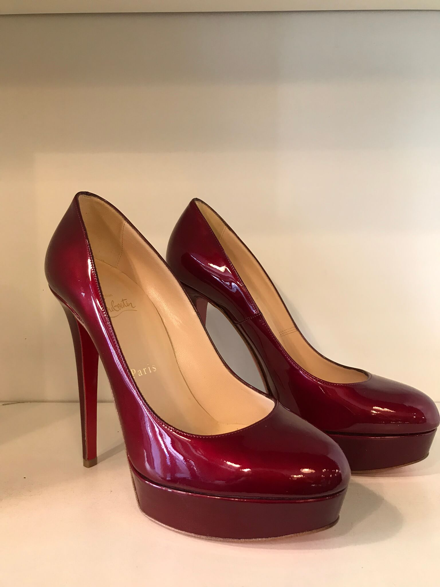 fd21f84ed4b CHRISTIAN LOUBOUTIN Red Bianca Stilettos — Vicki's Secret