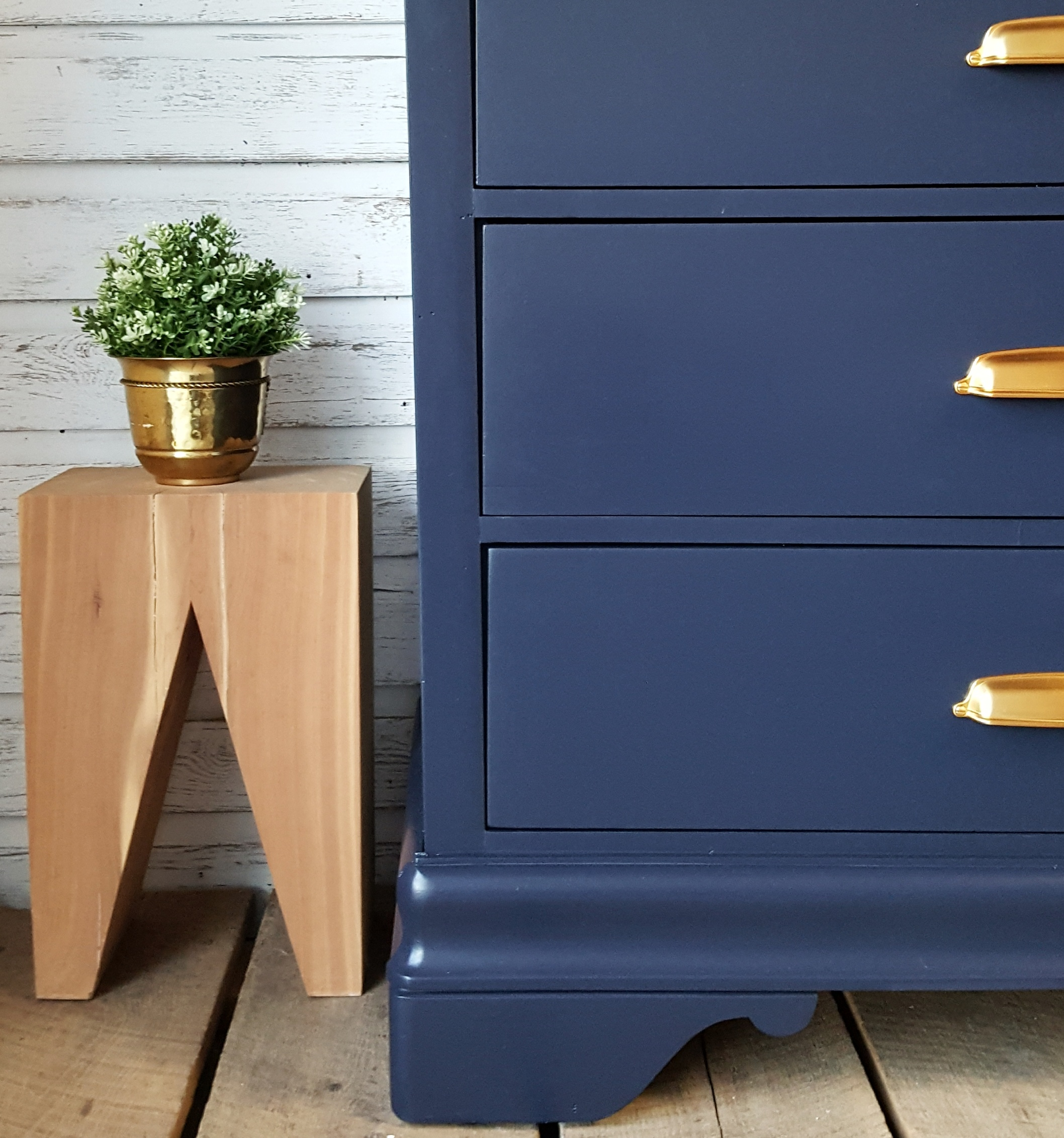 Sold Navy Blue Chest Of Drawers Market House Restorations