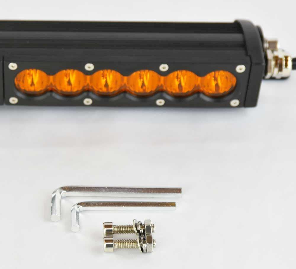 X6s Slim Series 2d Amber White Single Row Led Light Bar Combo Beam Sherpa Equipment Company