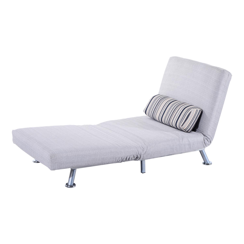 Homcom Foldable Futon Sofa Bed For 1 Person Grey Mh Star
