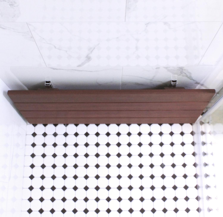 Ipe Wood Shower Bench Regen