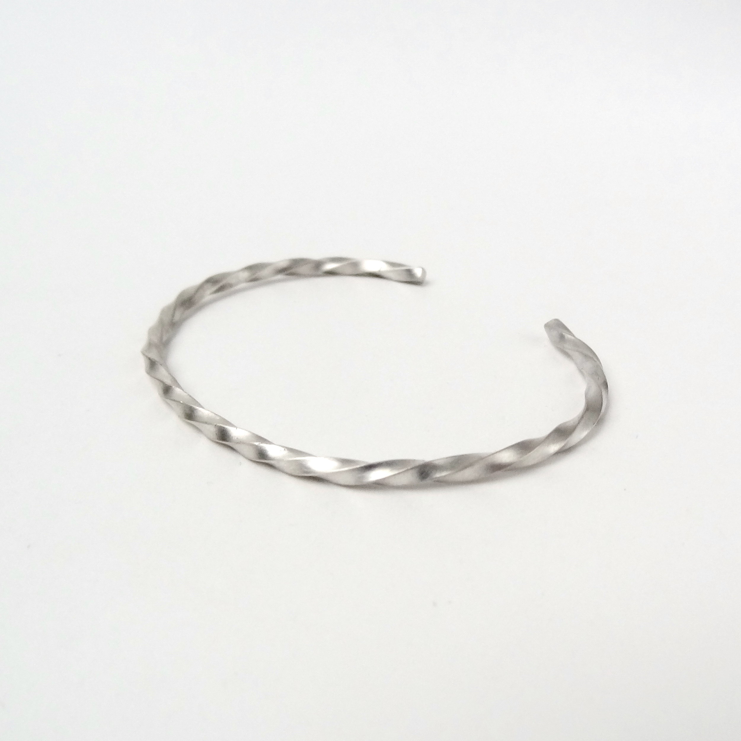 Twisted Silver Cuff Bracelet Rebecca