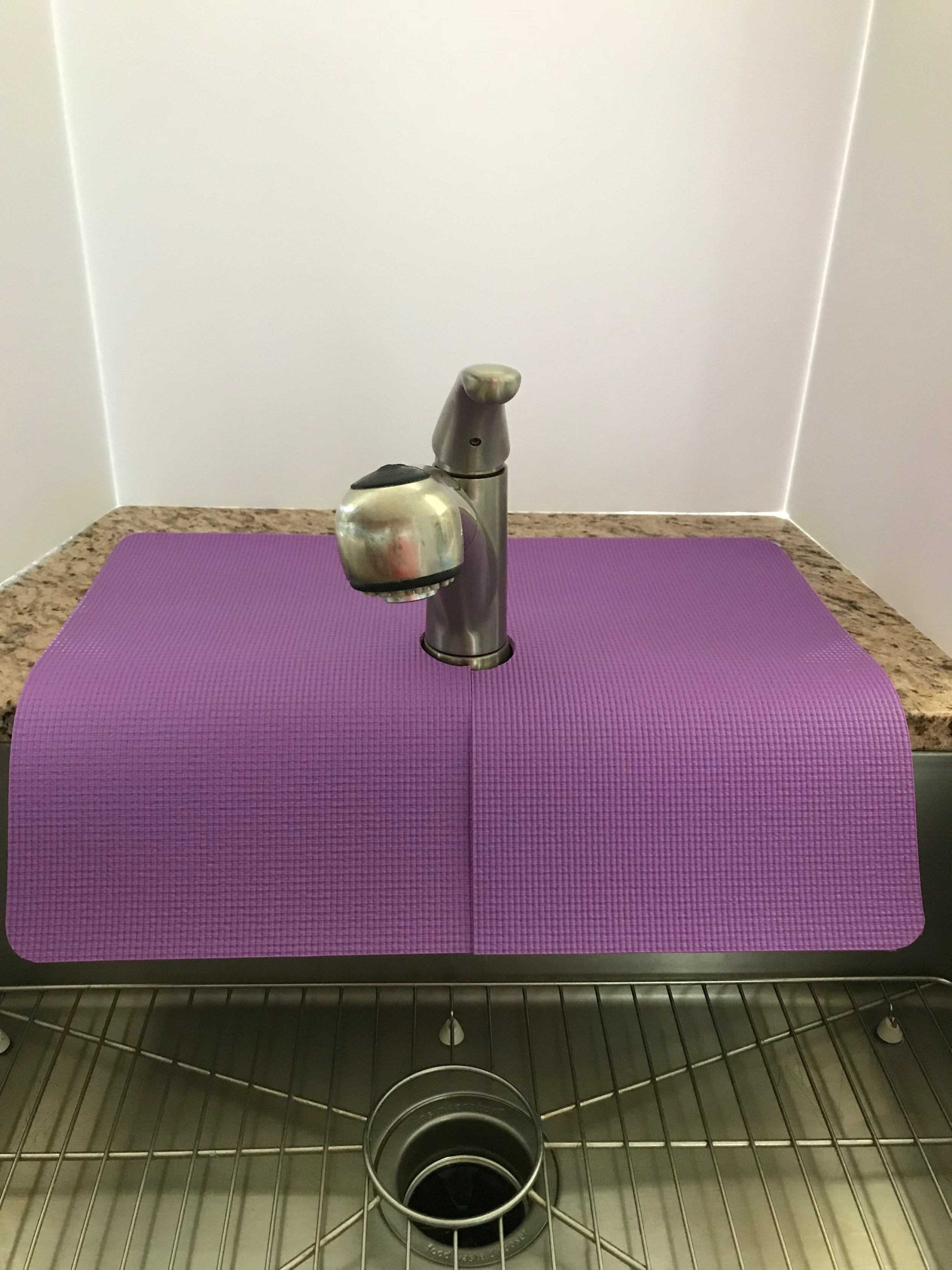 Purple Kitchen Sink Faucet Splash Guard, guards from sink edge from  chipping, water damage and water splashes, 17 in width x 23 in length,  TM(4), ...