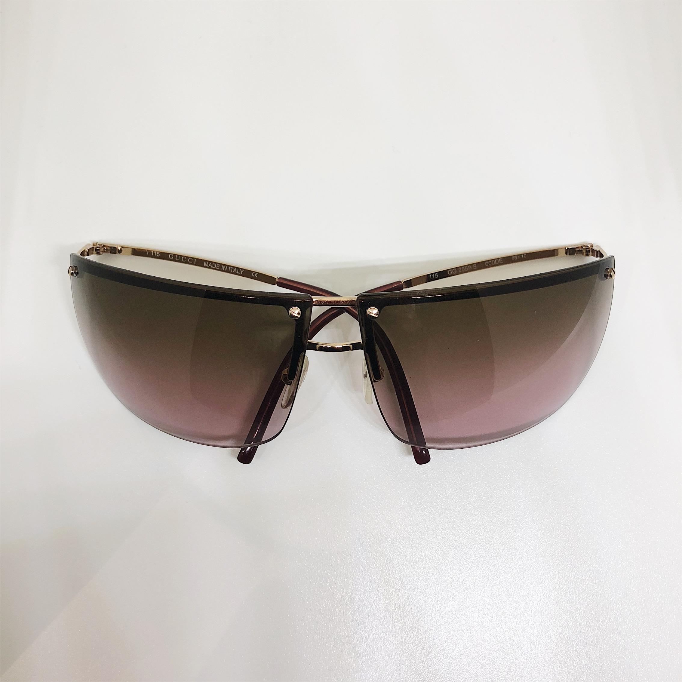 9bba4a1c6c1b Accessories| Lunettes London Gucci Rimless Gradient Glasses | 1n1 ...