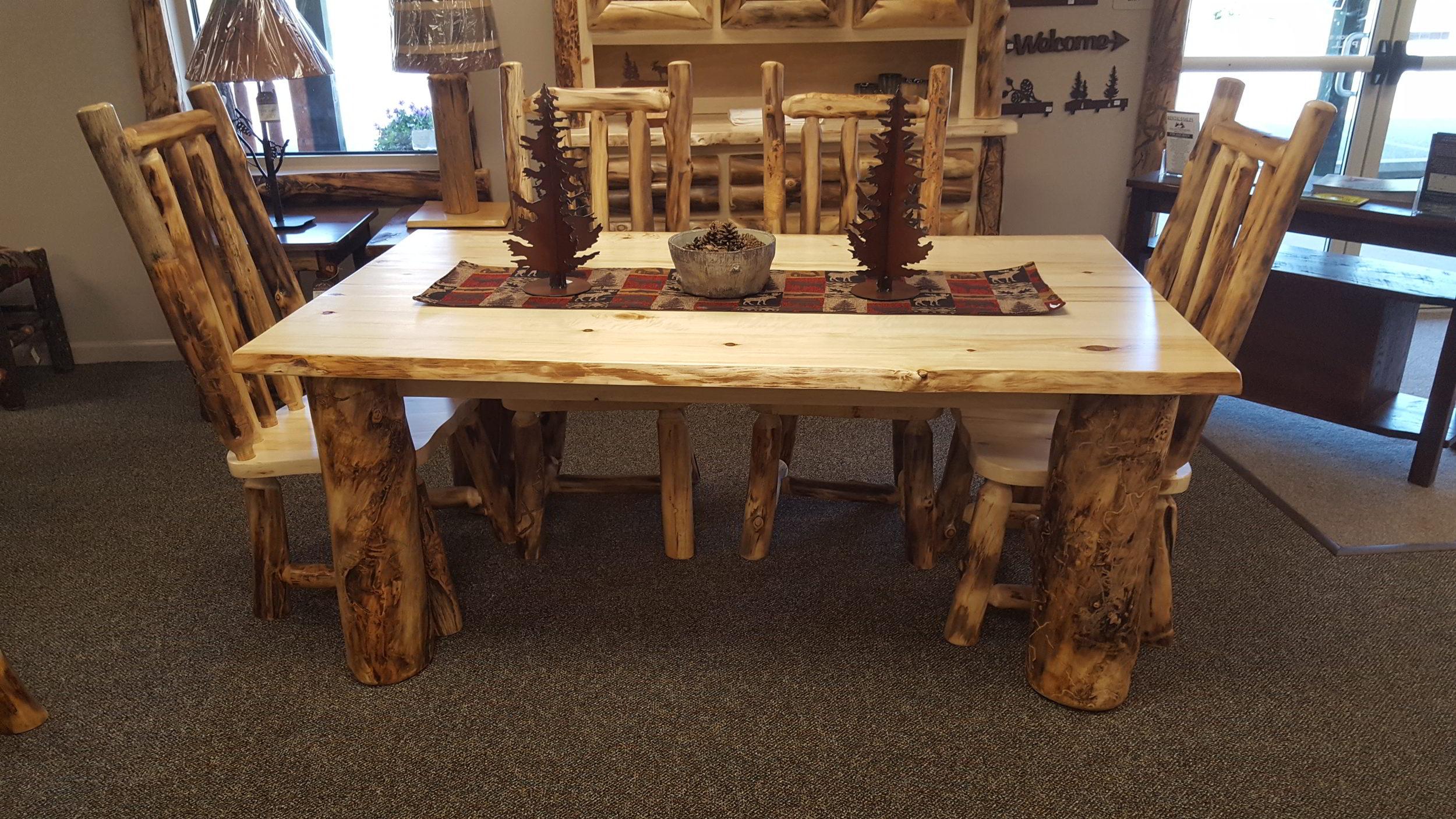 Aspen Live Edge Table — EZ Mountain Rustic Furniture