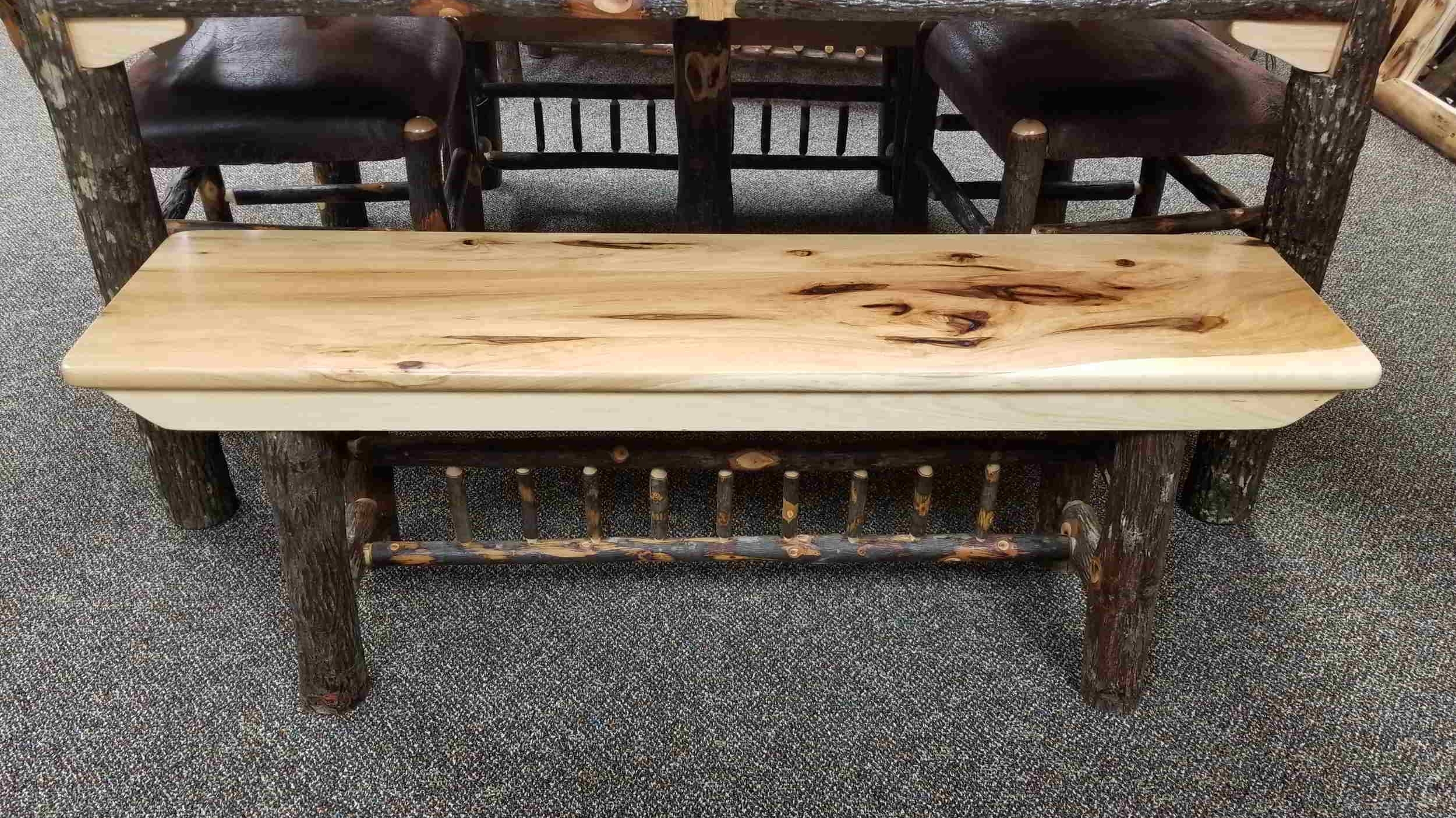 Hickory Dining Room Bench — EZ Mountain Rustic Furniture