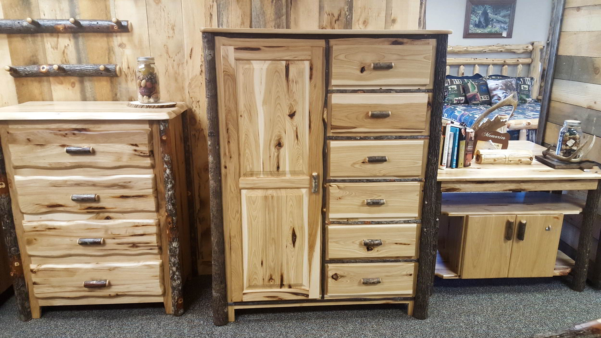 Hickory Wardrobe Ez Mountain Rustic Furniture