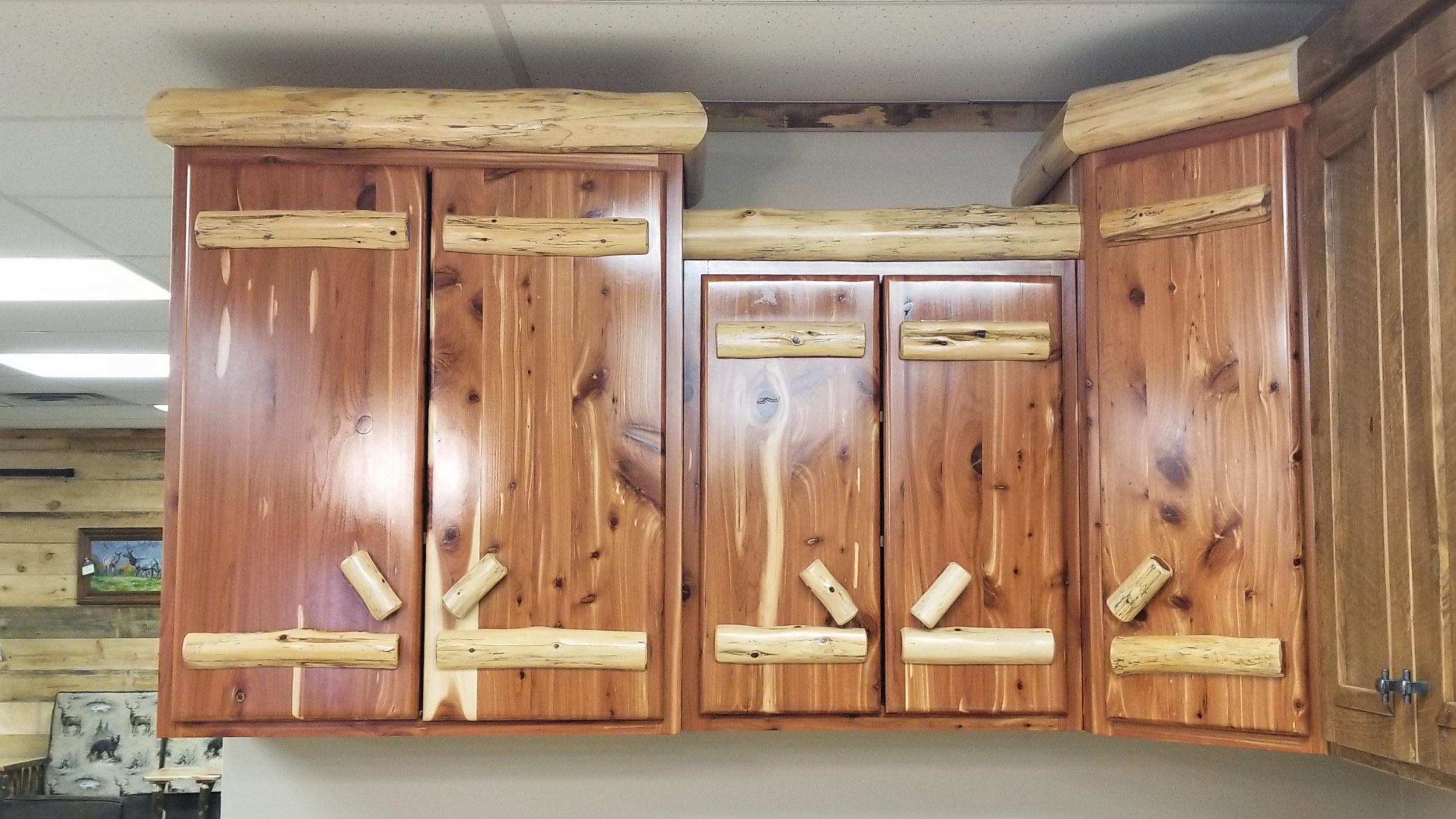 Red Cedar Cabinets Ez Mountain Rustic Furniture