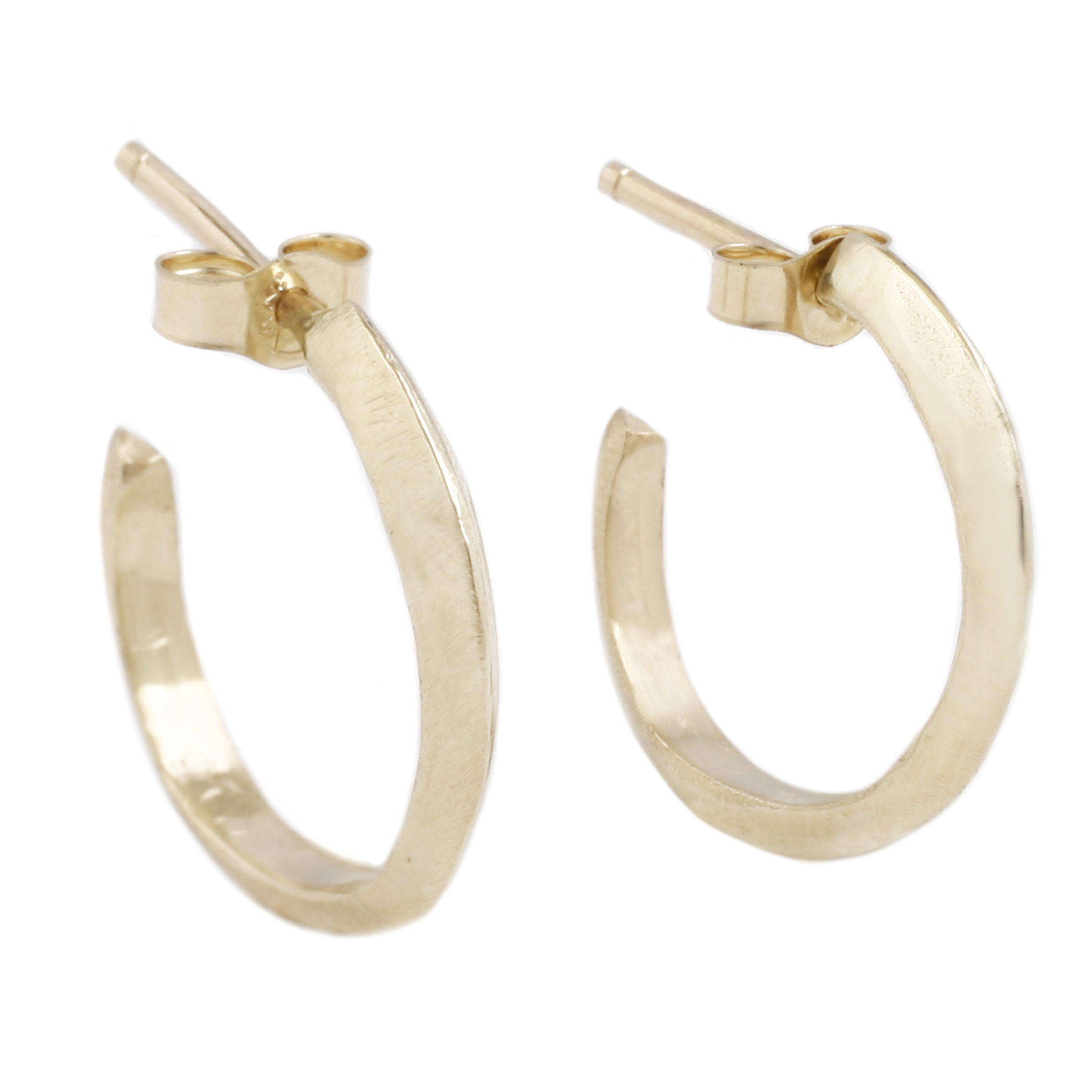 329e1bd31 Gold Knife Edge Hoops — Adeline Jewelry