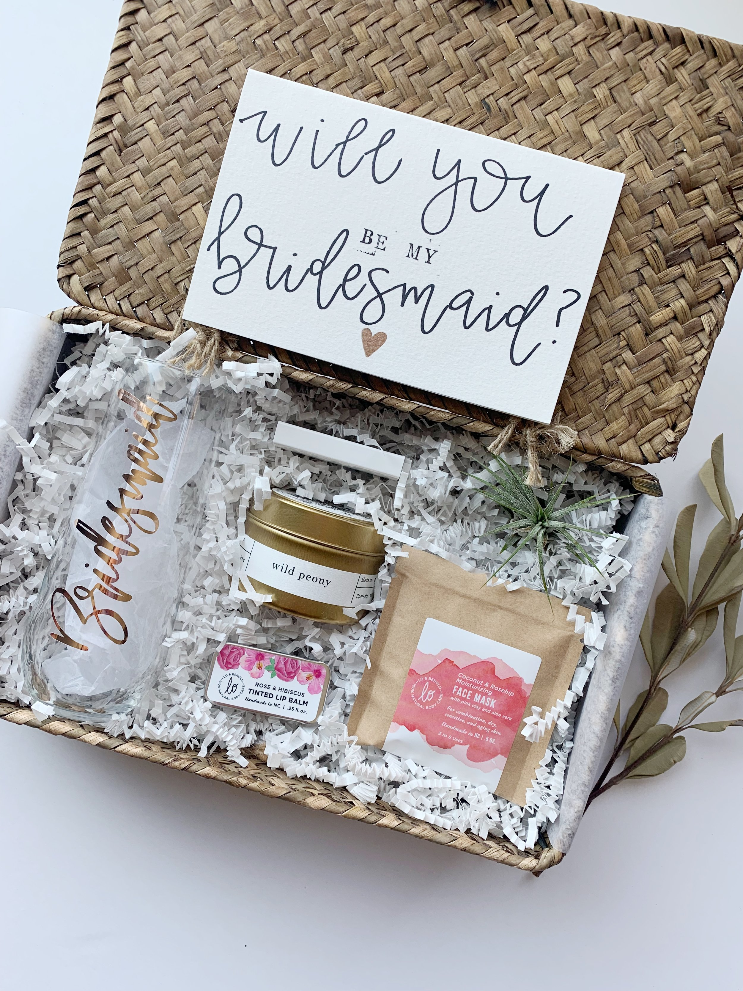 Bridesmaid Gift Box Memo Box
