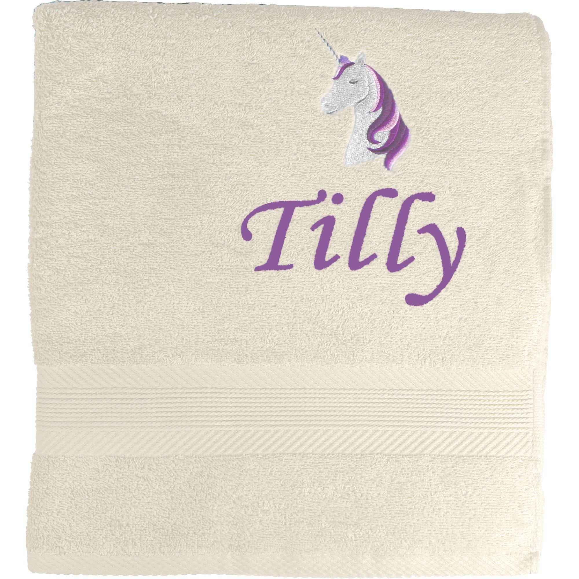 TeddyTs Personalised Purple Unicorn Baby Pink Sleepsuit