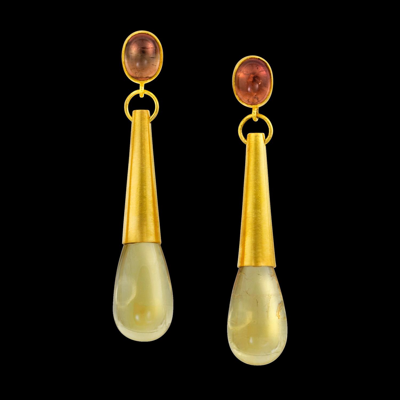 8d57f6c9b588a Loren Nicole Yellow Beryl Torpedo Earrings — All The Brilliants