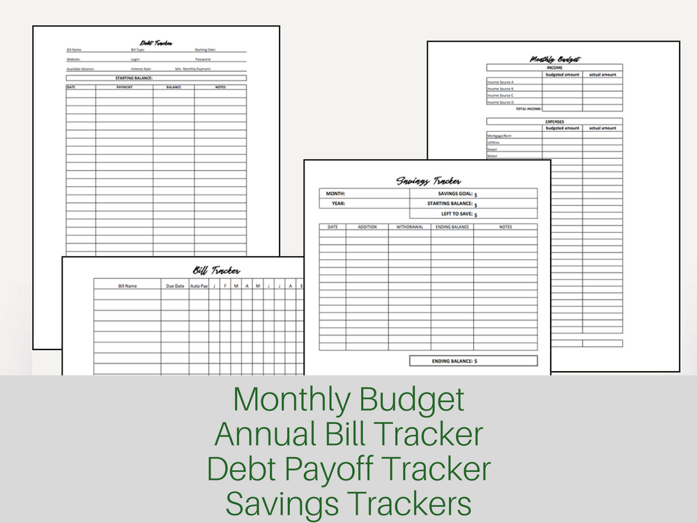 graphic relating to Printable Budget Planner identify Printable Spending plan Planner and Personal debt Snowball Bookkeeping as a result of Meredith Rines, CFP® Assisting Inventive Organization Homeowners Generate Come to feel of Their Spending plan