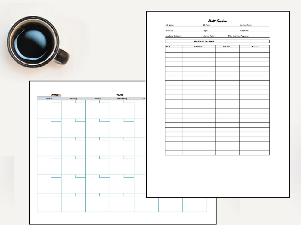 photograph relating to Debt Tracker Printable referred to as Printable Funds Planner and Personal debt Snowball Bookkeeping via Meredith Rines, CFP® Aiding Resourceful Office environment House owners Generate Experience of Their Price range