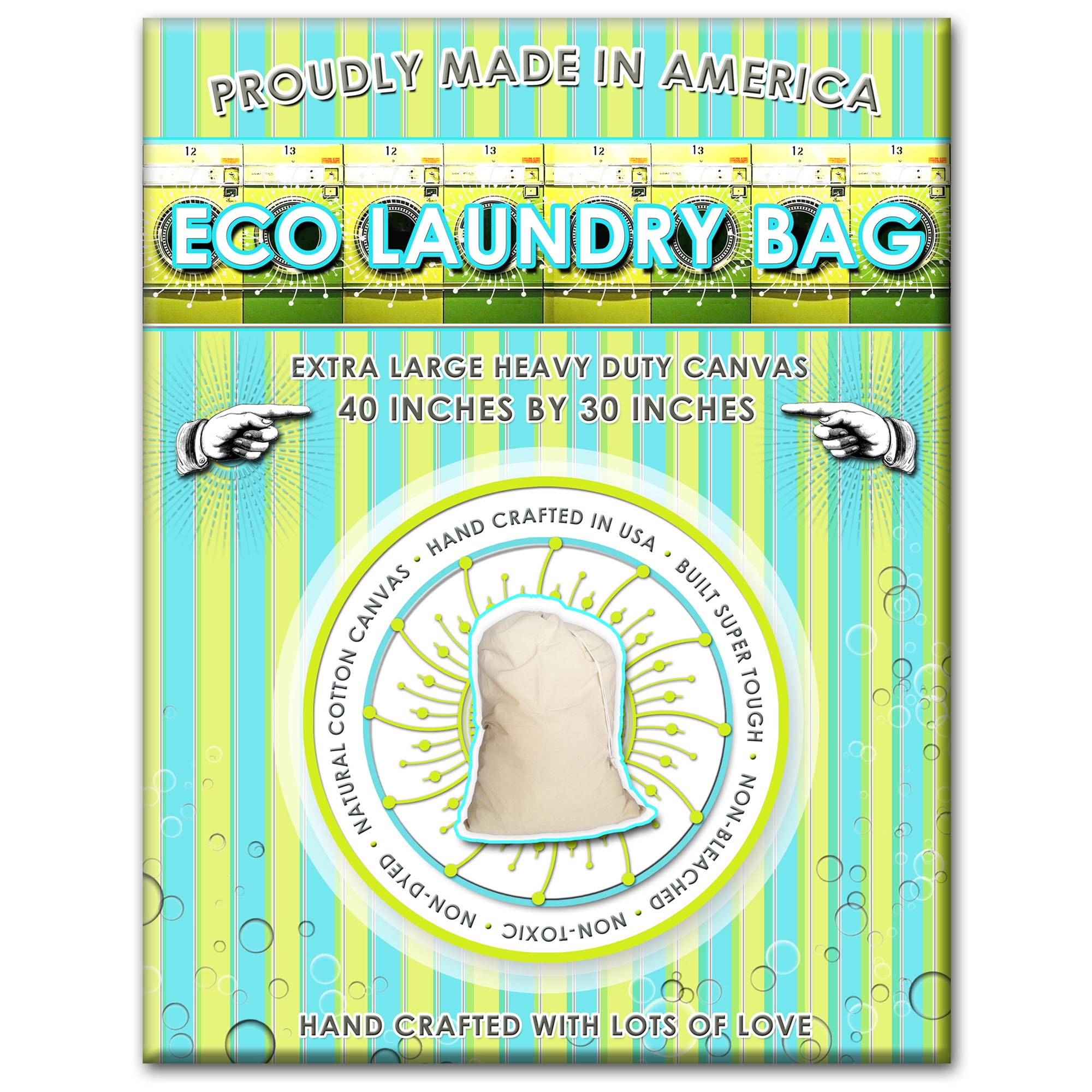 5aba5b067872 Laundry Bag/ Hamper Liner. Handcrafted From Heavy Duty Eco Canvas. Extra  Large- 40 Inches Tall by 30 Inches Wide. Load Capacity is 150 Pounds.  Proudly ...