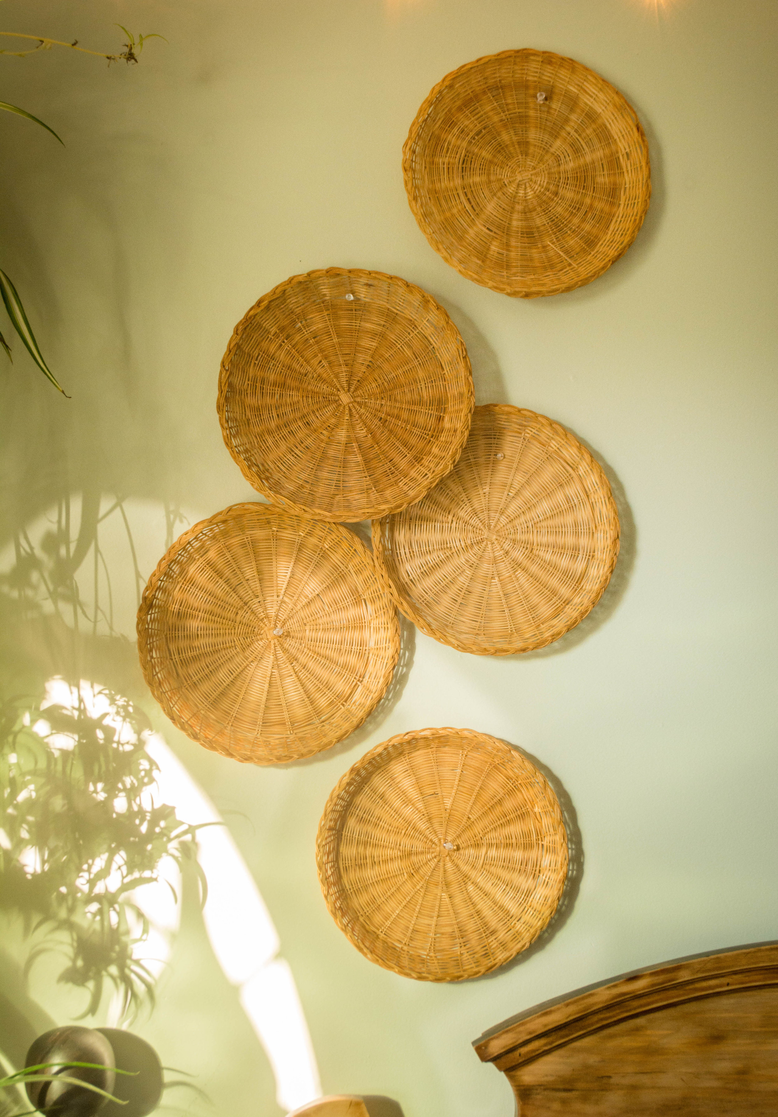 Bohemian Style Wicker Wall Decor Baskets Ruinous Revived