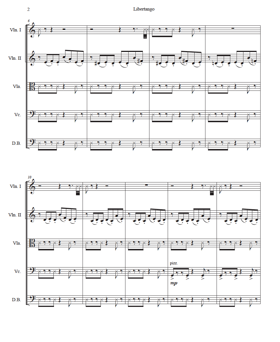 Libertango - Astor Piazzolla arr  Alice Hong — Project MainStream